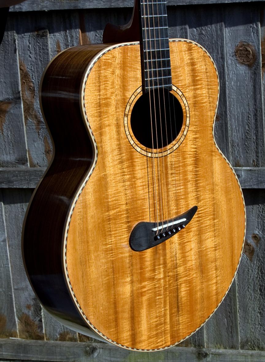 Koa SFG guitar top