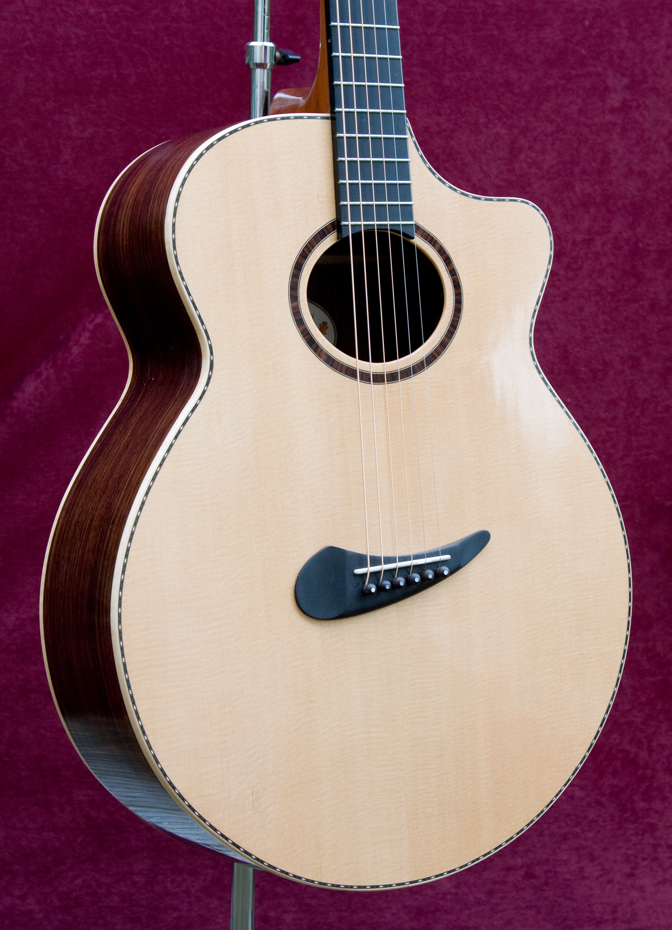 Powell guitar with venetian cutaway
